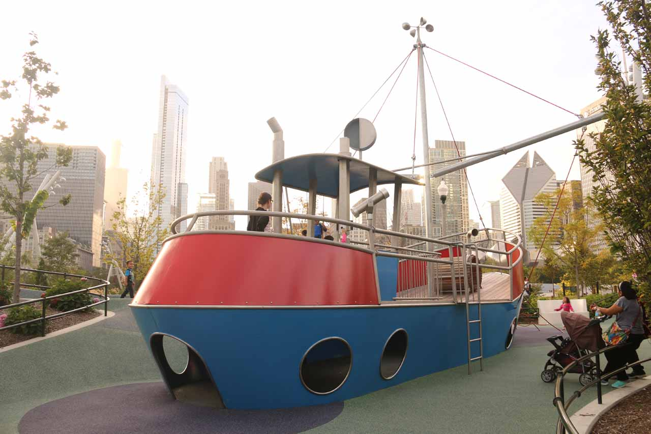 Tahia wound up spending most of her time at this ship playing with other kids