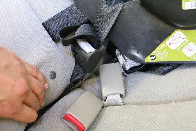 These anchor straps latch onto the frame of the car so the child car seat is less likely to become detached from the car if something happens