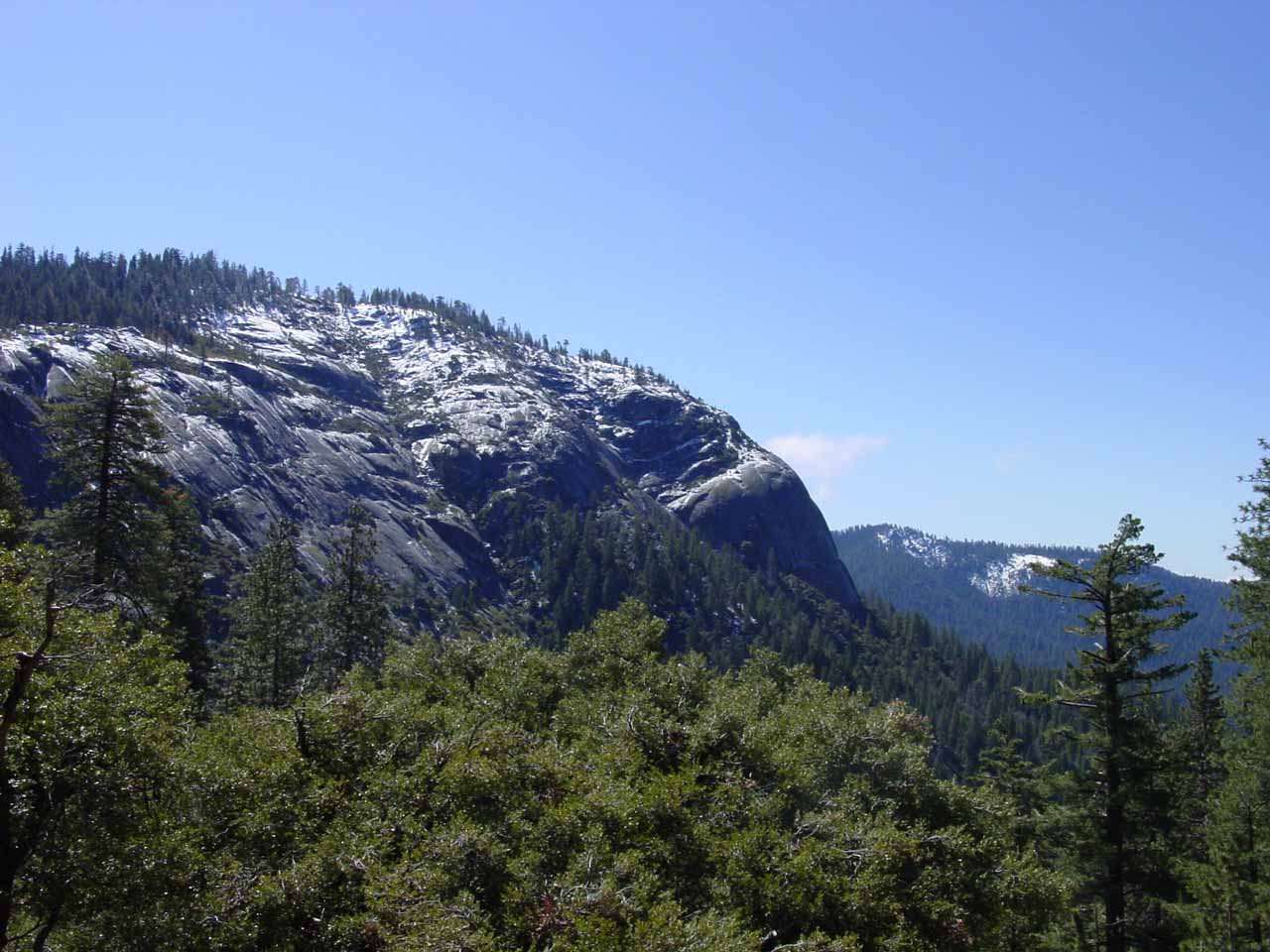 The Wawona area (let alone the southern part of Yosemite National Park) was generally much quieter than say Yosemite Valley so we got to enjoy Wawona Dome (shown here) in relative peace
