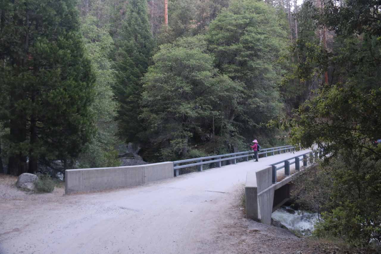 This was the bridge over Chilnualna Creek at the bottom of the road. We had to backtrack at this point though there was an informal trail that probably led up to the first Chilnualna Falls