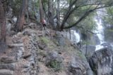 Chilnualna_Falls_17_032_06172017 - Context of another hiker continuing to climb past the first of the Chilnualna Falls during our June 2017 hike
