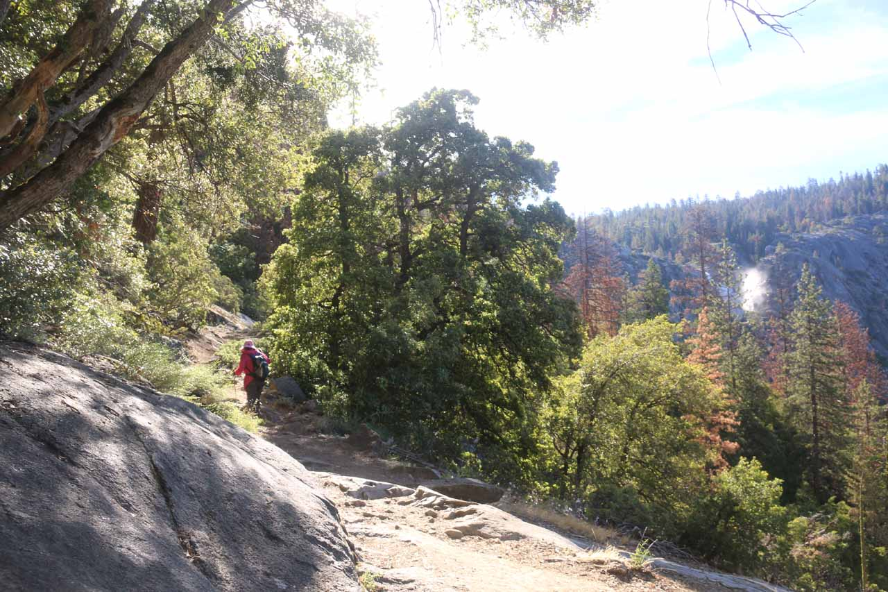 The trail continued climbing towards the fourth Chilnualna Falls