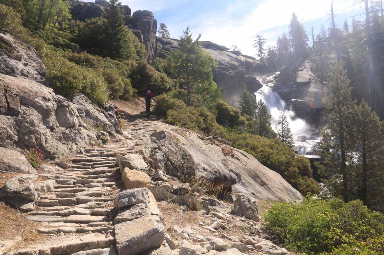 Just upstream from the fourth Chilnualna Falls was the fifth Chilnualna Falls