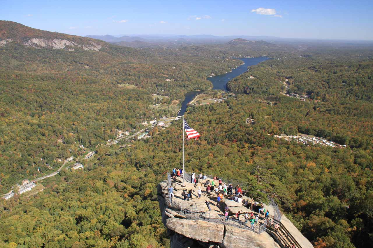 Chimney Rock was the main feature of a visit to Hickory Nut Falls, and as you can see, it yielded some breathtaking views in addition to some interesting rock formations