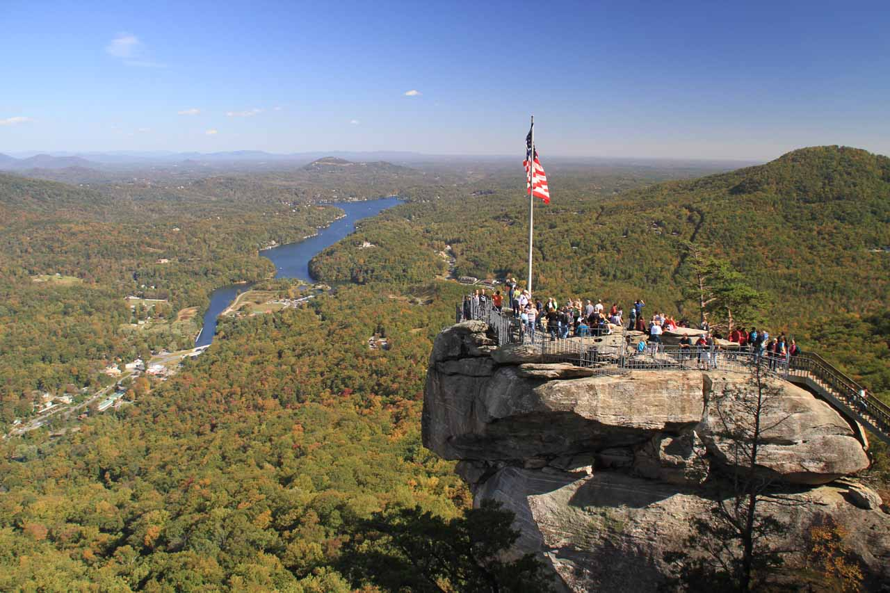 Just to the northeast of Pearson's Falls was Chimney Rock, which yielded some nice views of the surrounding region as well as allowing us to examine some interesting rock formations more closely