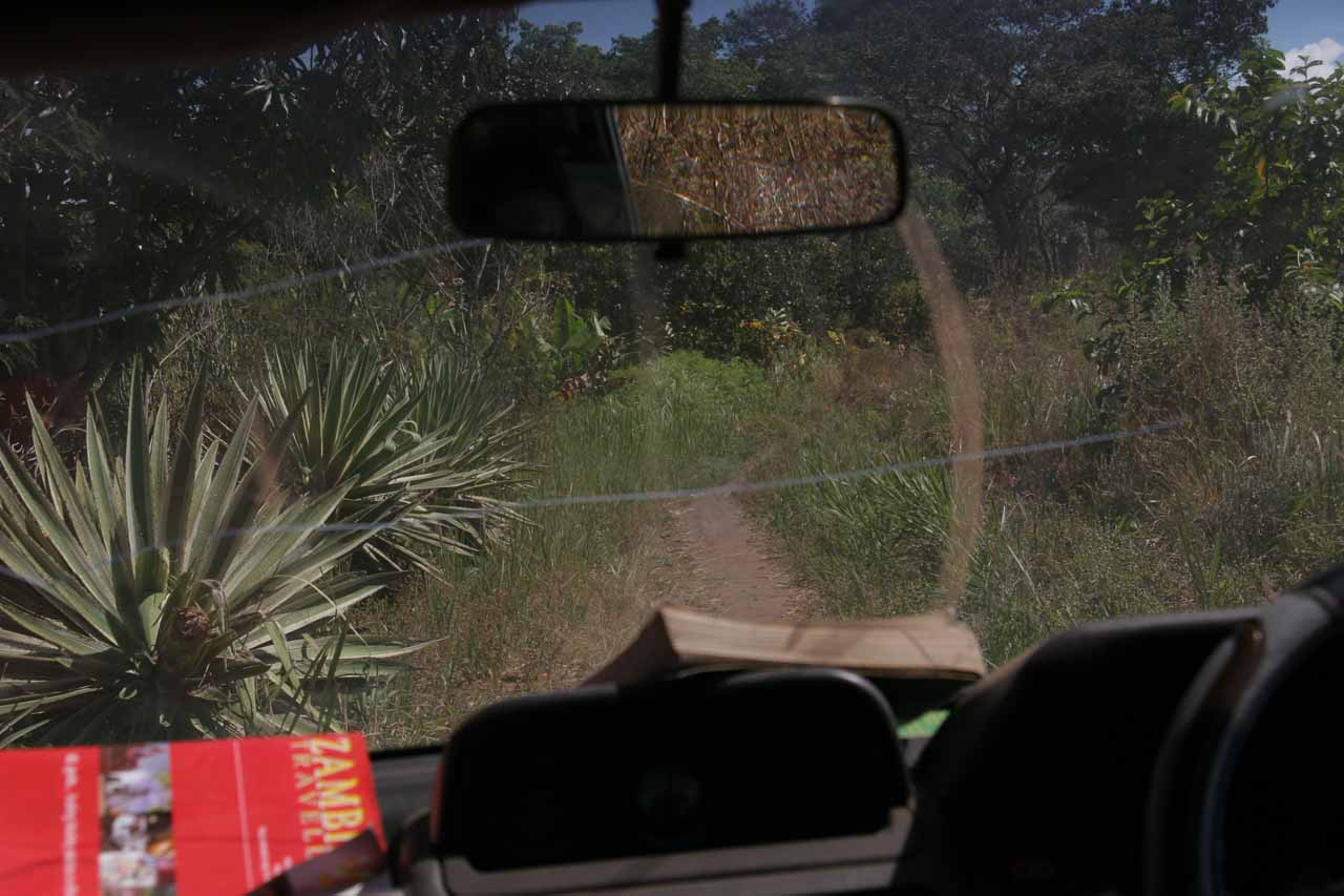 Questionable road to Chipempe Falls