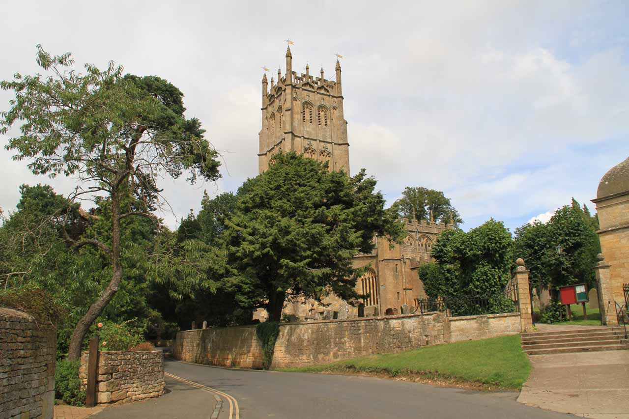 Some attractive looking church near the public car park for Chipping Campden