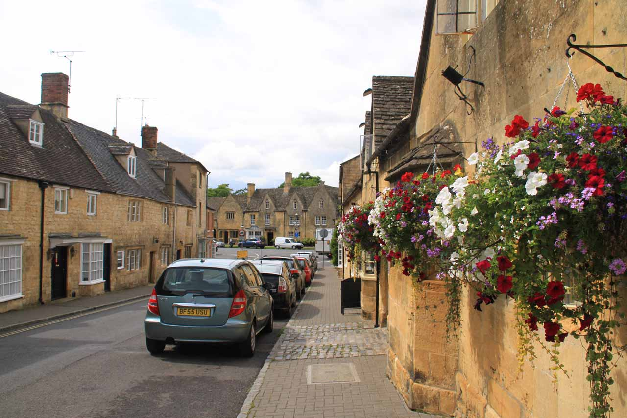 Making our way towards the town centre for Chipping Campden