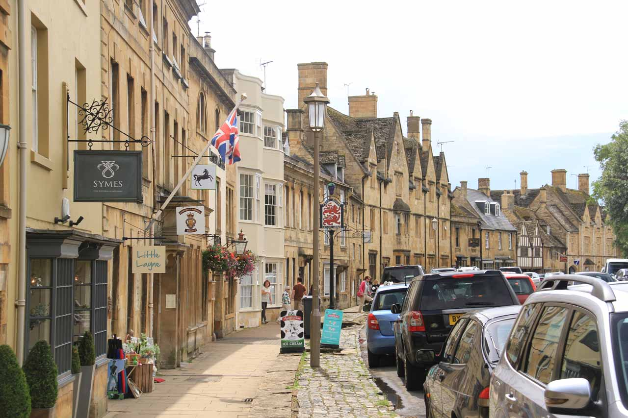 On the main town centre of Chipping Campden