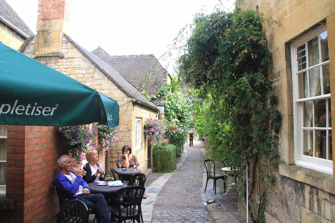 One of the hidden alleyways off of High Street in Chipping Campden