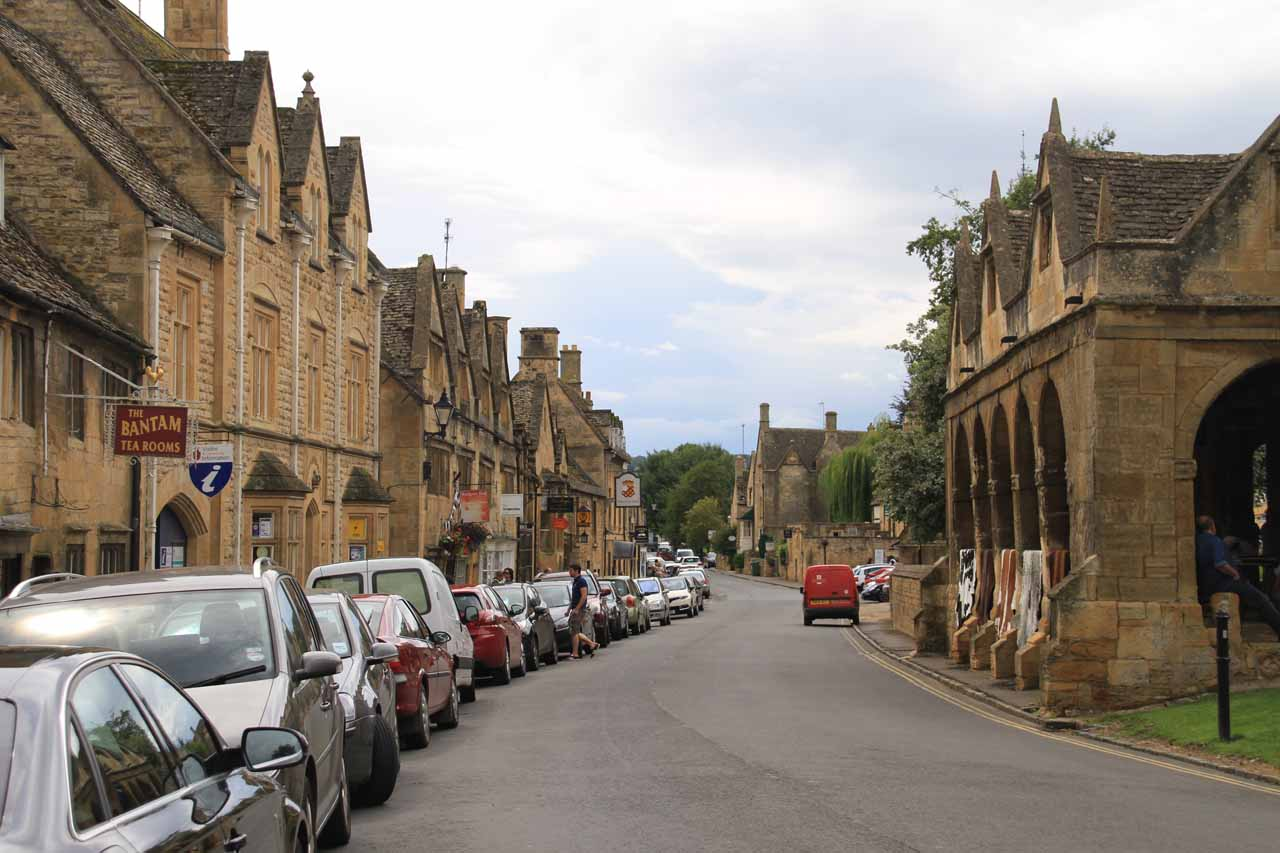 The attractive town centre of Chipping Campden