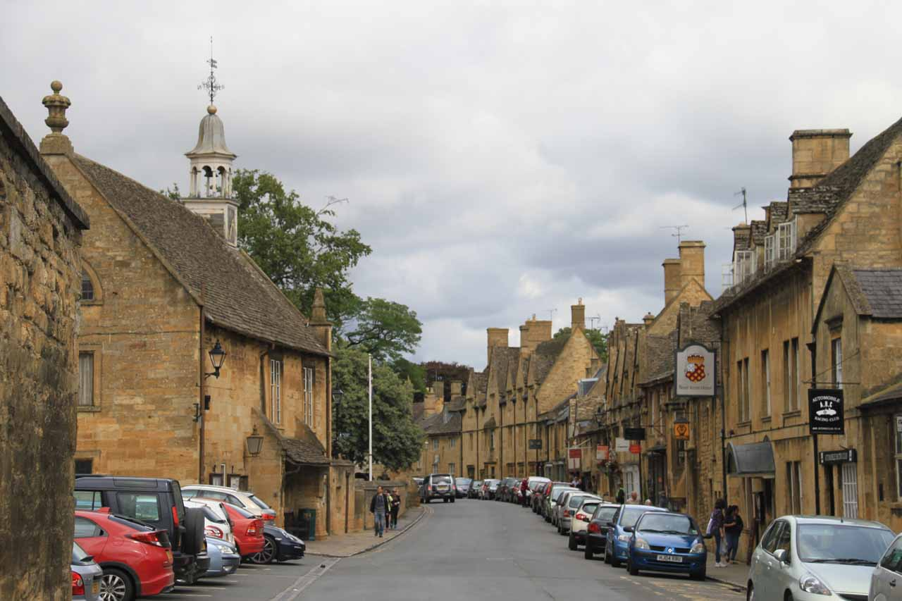 View of the main town centre of Chipping Campden as we were heading back to the car park