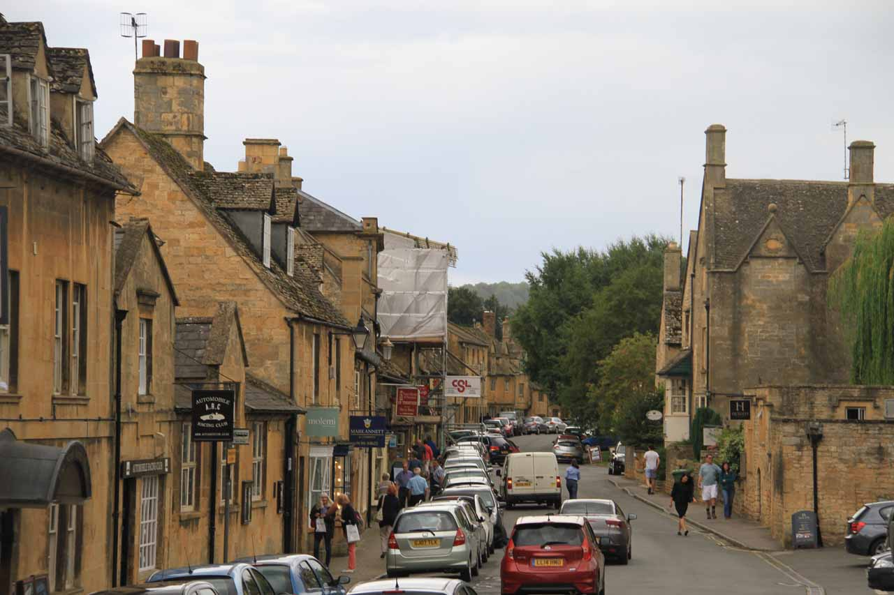 Another look back at the main part of Chipping Campden