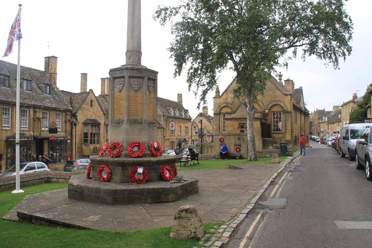 A war memorial in the heart of Chipping Campden