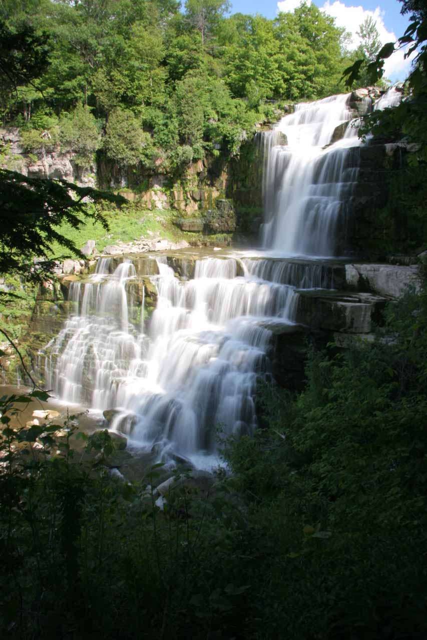 Side view of Chittenango Falls