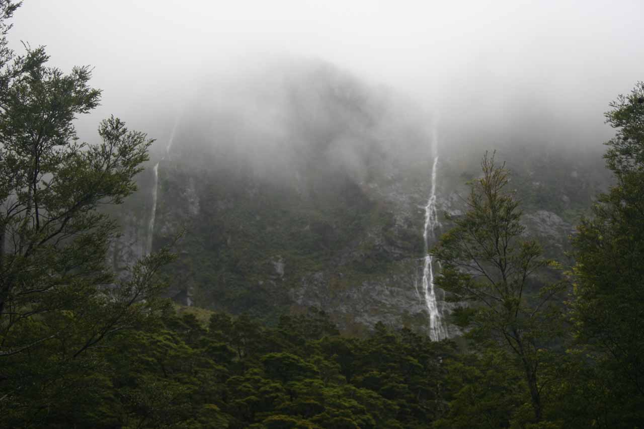 When the bad weather came, we started seeing these ephemeral waterfalls in the vicinity of Christie Falls