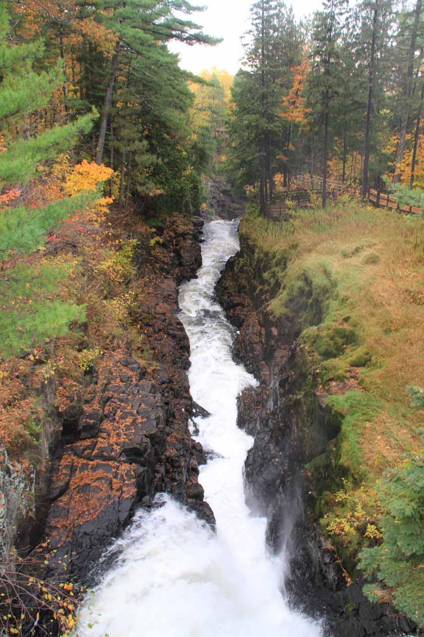 Looking downstream from the footbridge