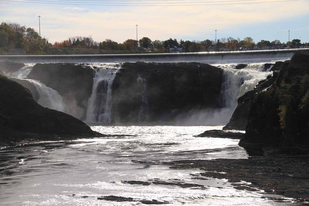 Last look back at Chutes de la Chaudiere from the passerelle