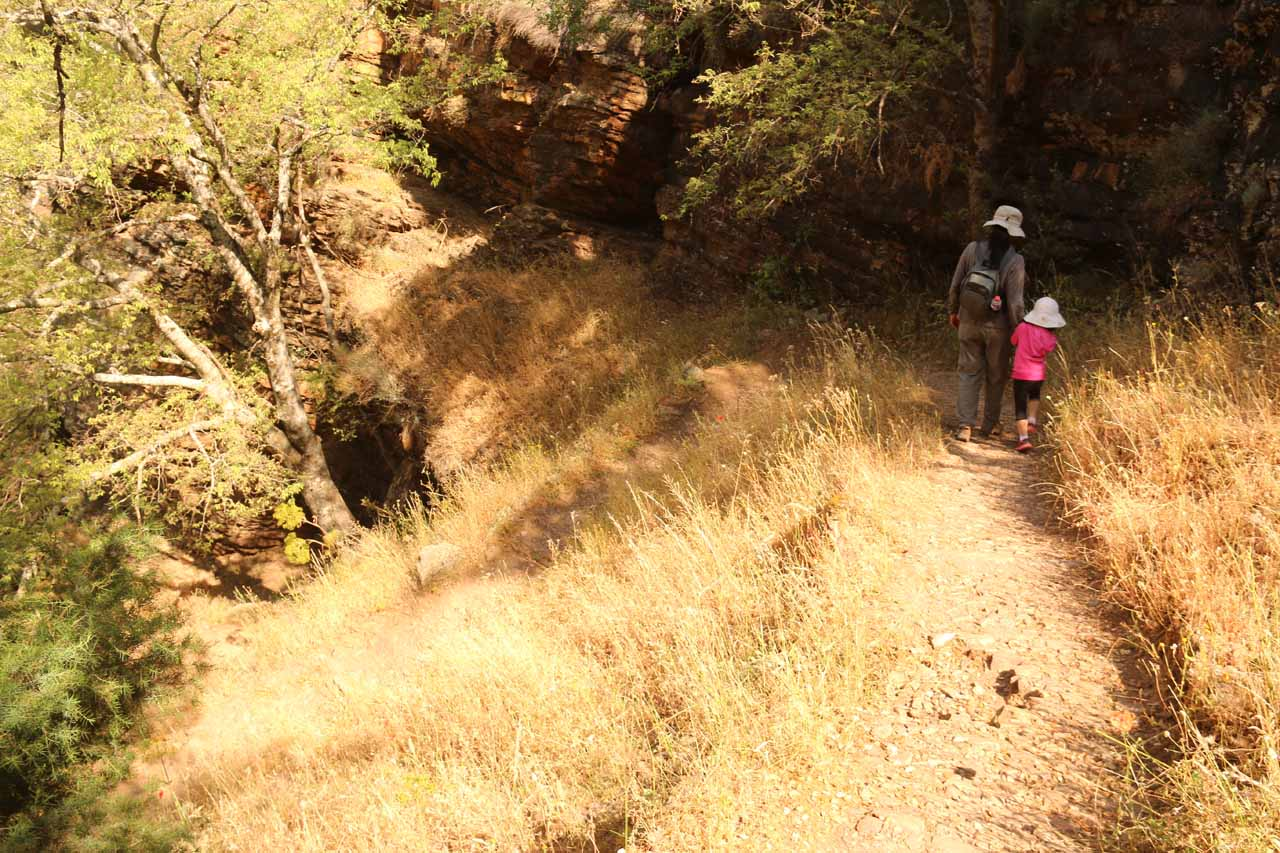 We first descended the trail on the right to access the base of the Cascada de la Cimbarra