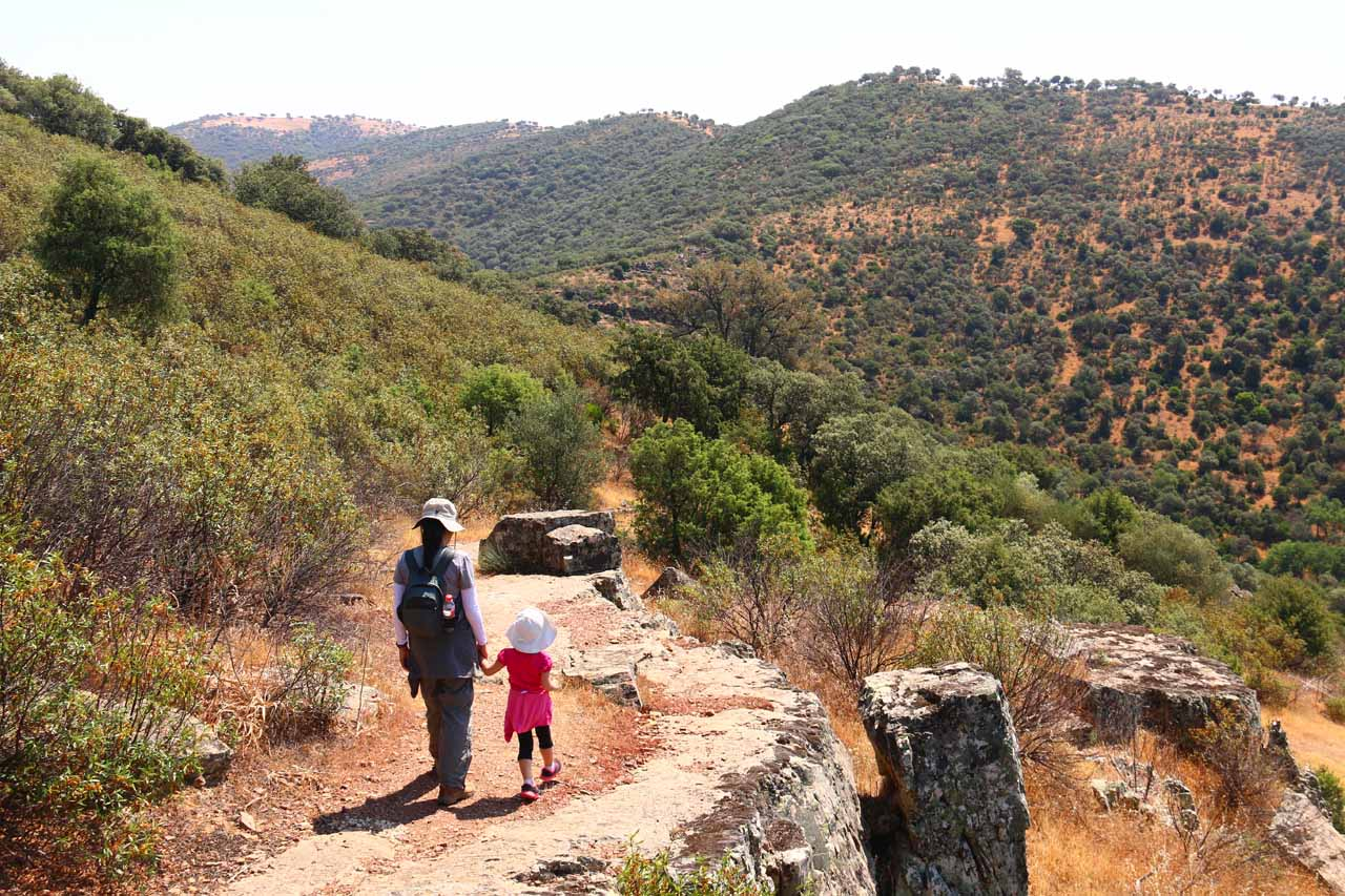 Julie and Tahia on a trail that we thought would wrap back around to the trailhead