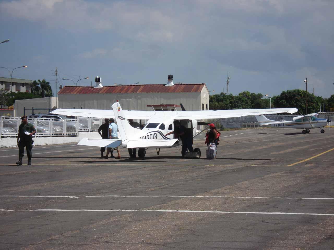 The tiny Cessna plane