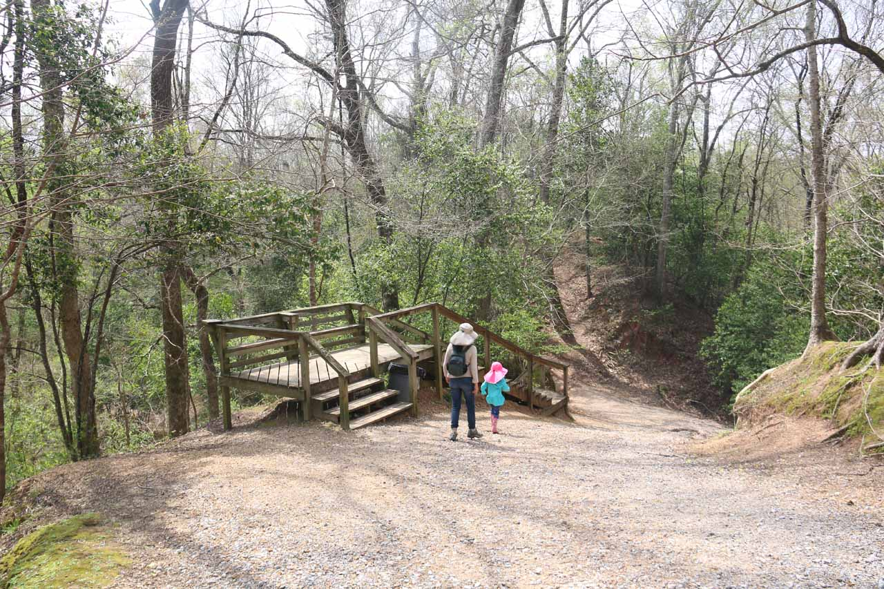 We noticed stairs were built alongside the trail, which confused us at first, but then we realized that the trail itself could get muddy and difficult to climb after heavy rains
