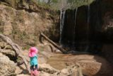 Clark_Creek_NA_057_03152016 - Tahia checking out the first of the Clark Creek Waterfalls