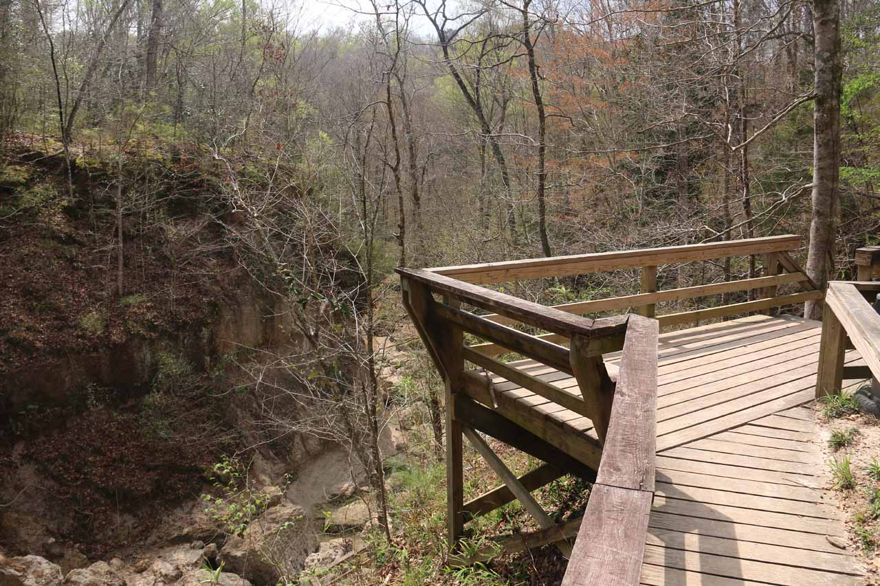 This lookout platform was above the second Clark Creek Waterfall