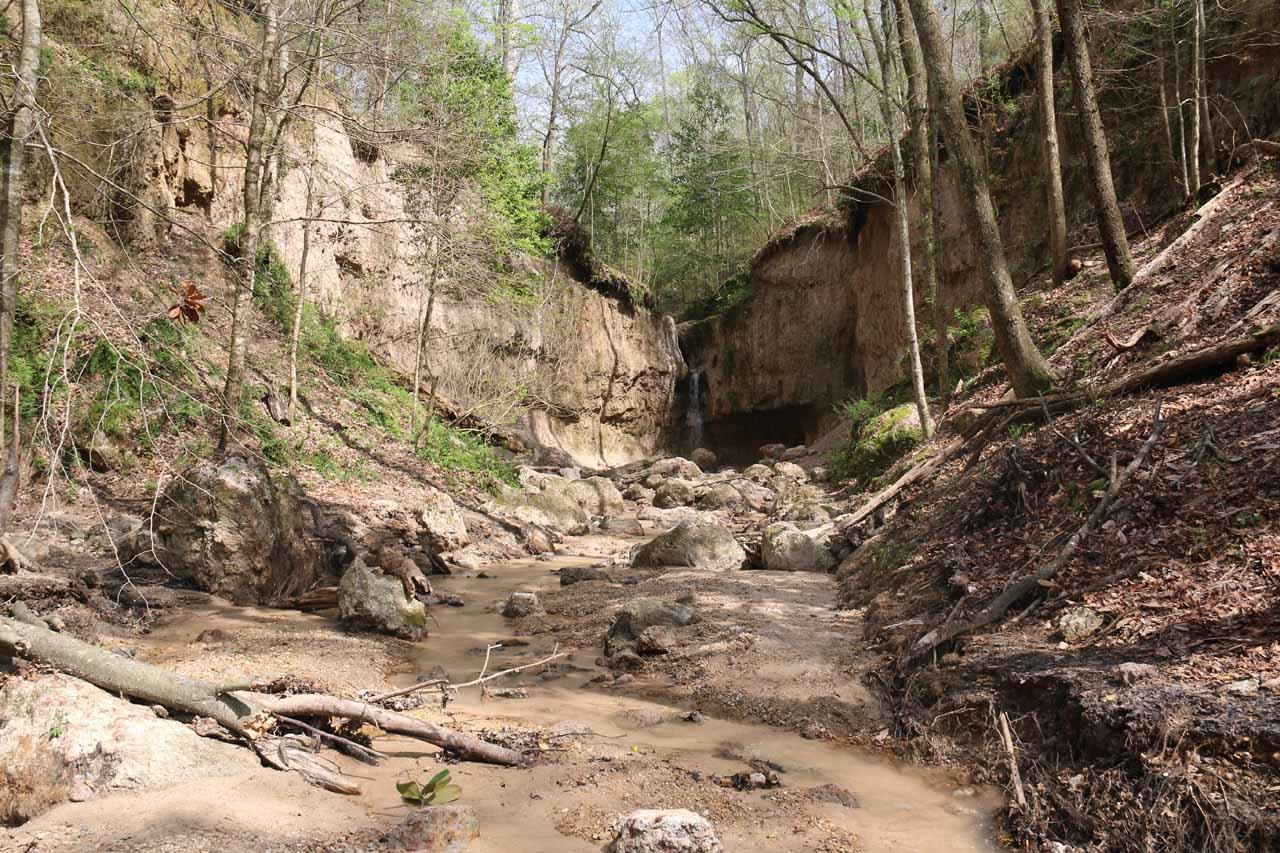 Finally approaching the third Clark Creek Waterfall