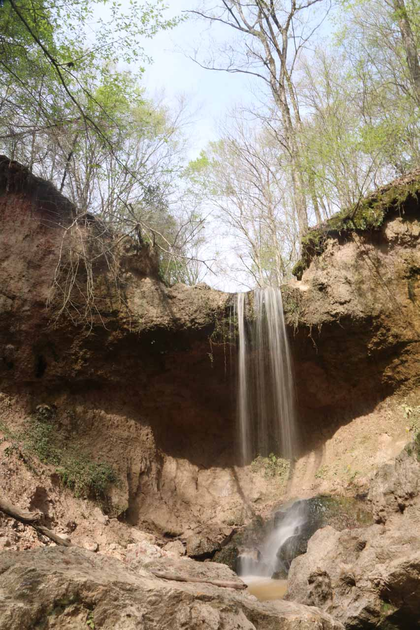 A closer look at the fourth Clark Creek Waterfall