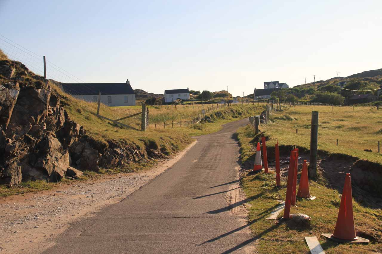 At first, I was walking along the single-track B869 road towards the other side of the hamlet of Clashnessie