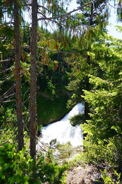 Clear_Creek_Falls_004_06212021 - Partial view of the upper drop of Clear Creek Falls