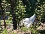 Clear_Creek_Falls_007_iPhone_06212021 - Broad view of the upper drop of Clear Creek Falls