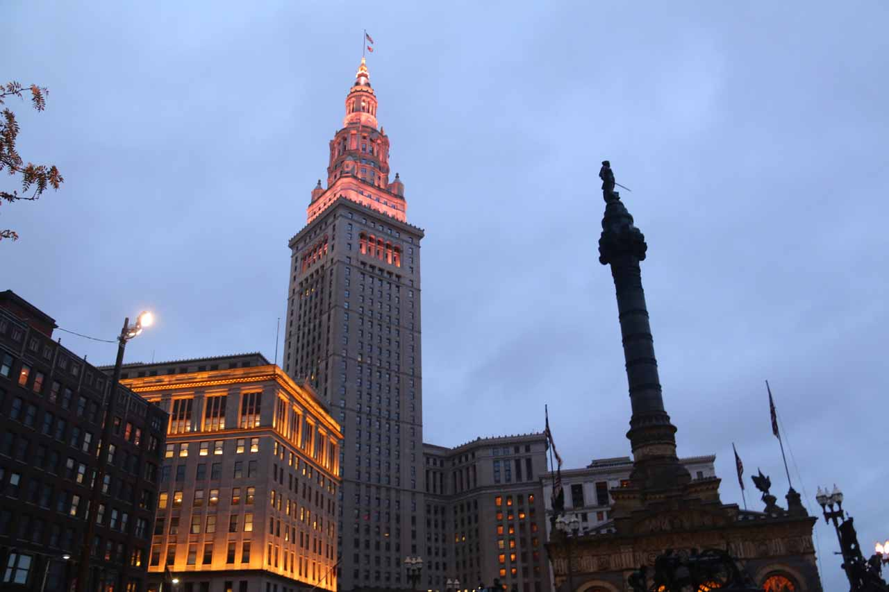 Downtown Cleveland surprised us with its sense of historical charm. Julie thought the city had 'good bones' and we saw a lot of construction work being done to restore the glory of days gone by