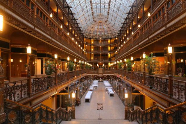 Cleveland_163_10042015 - We stayed at the Hyatt in downtown Cleveland, which featured this gorgeous Arcade that seemed to be a very popular wedding venue as well as hinting as the city's heyday