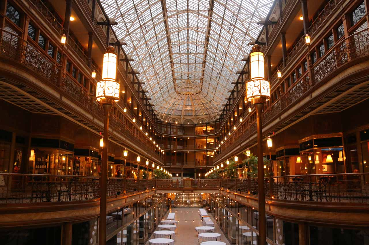 The Arcade in the Hyatt in downtown Cleveland