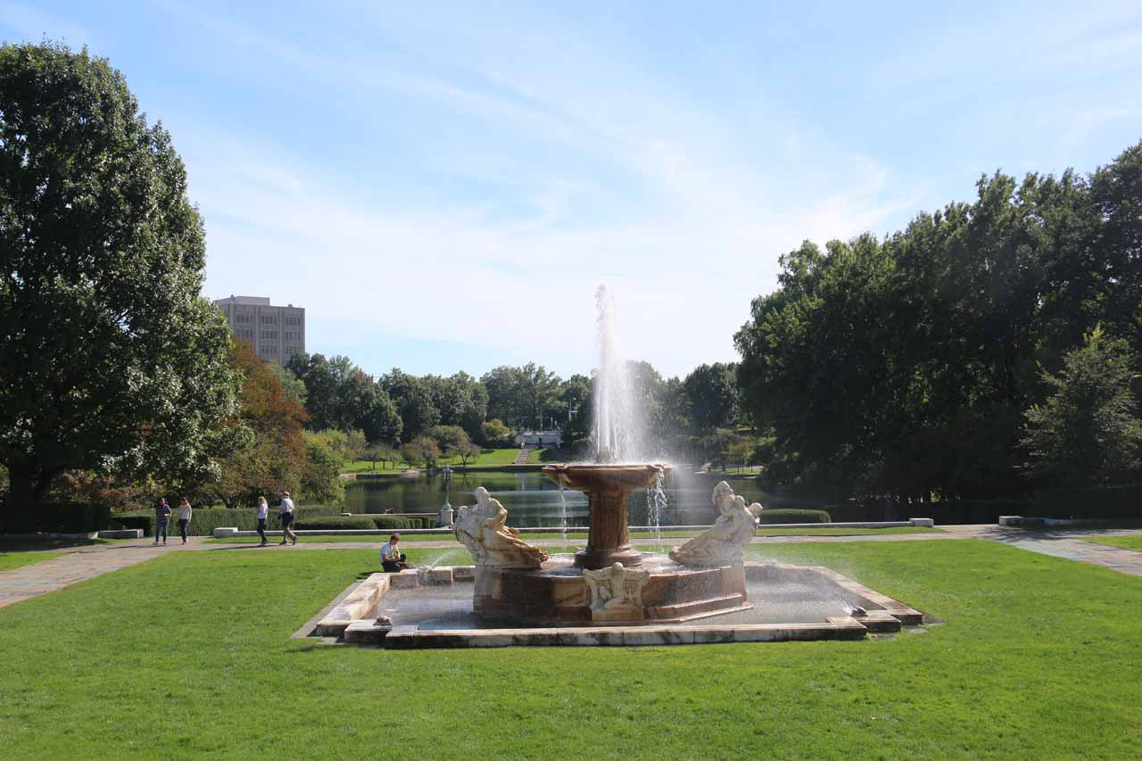 On the eastern outskirts of Cleveland was the Cleveland Art Museum, which featured a serene park (shown here) as well as some impressive art exhibitions that Julie liked