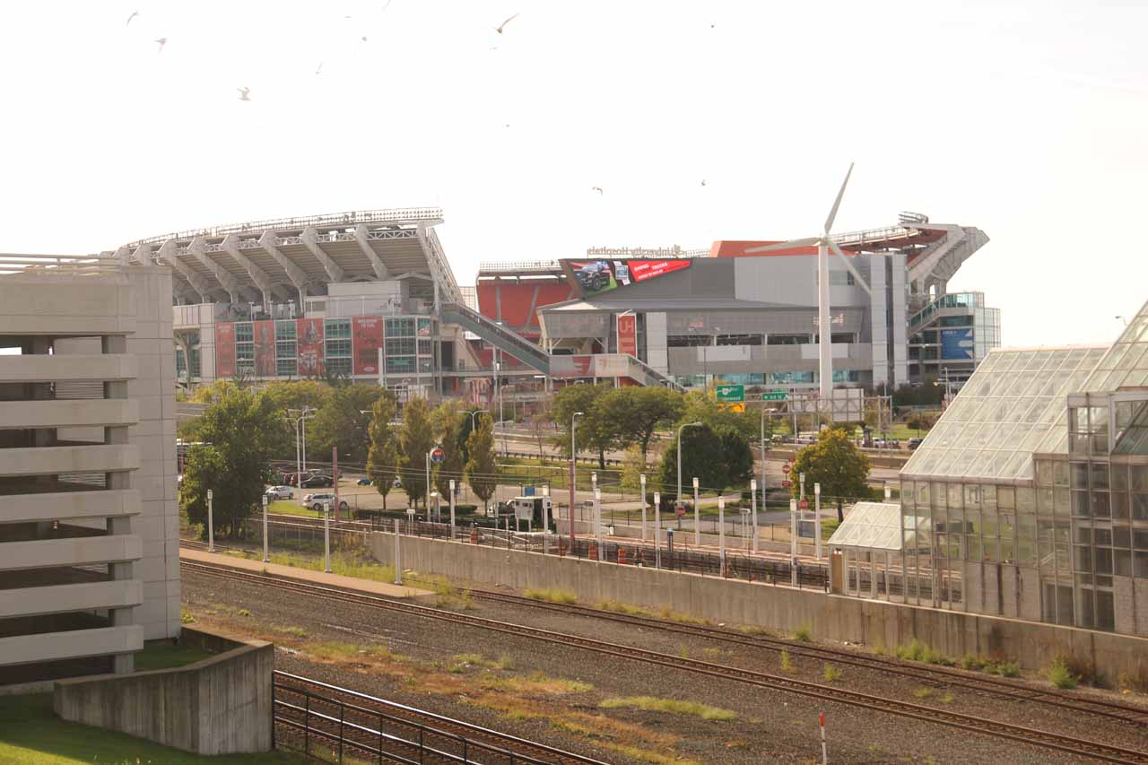 The stadium of the Cleveland Browns