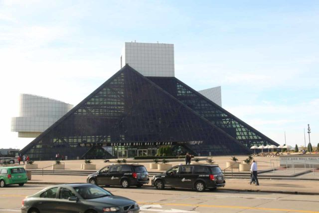Cleveland_260_10042015 - Cleveland was also home to the Rock and Roll Hall of Fame as apparently it was proclaimed that rock and roll got started here (i.e. 'Cleveland Rocks'). The museum was like a VH1 rockumentary gone live