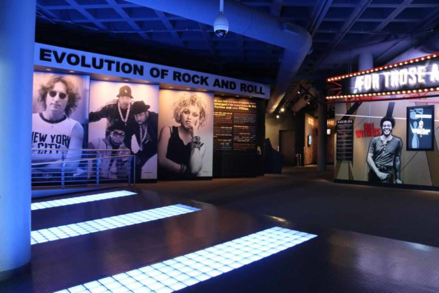 Cleveland_283_10042015 - Cleveland was also home to the Rock and Roll Hall of Fame as apparently it was proclaimed that rock and roll got started here (i.e. 'Cleveland Rocks'). The museum was like a VH1 rockumentary gone live