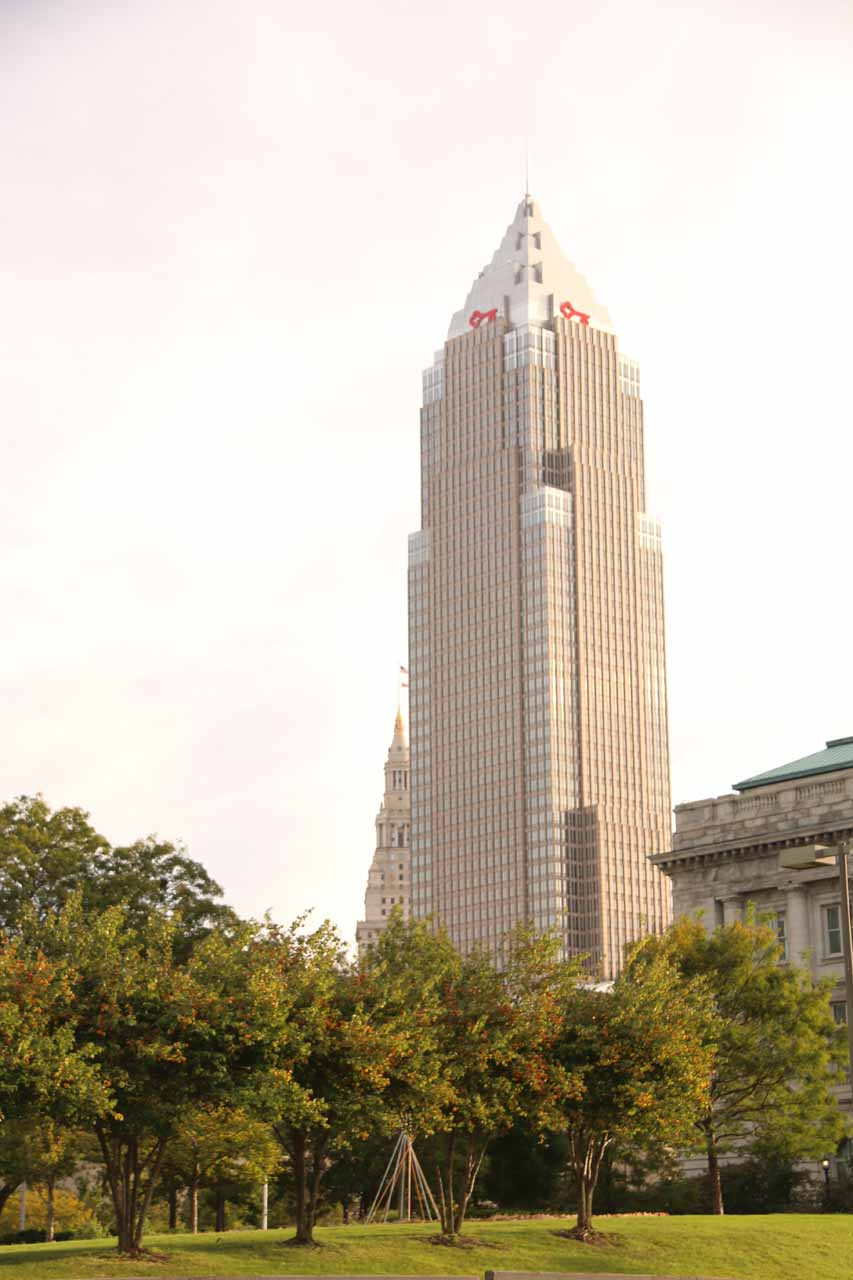 Looking towards the Key Tower in downtown Cleveland