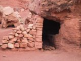 Cliff_Dwellers_011_06252001 - An example of how some people creatively used what was available to make a shelter at Cliff Dwellers