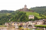 Cochem_110_06182018 - Context of the riverfront altstadt of Cochem with an impressive castle perched on a hill behind it