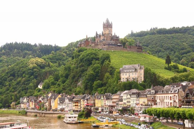 Cochem_110_06182018 - Further down along the banks of the Moselle River from Trier was the charming town of Cochem, which featured a very beautiful town square as well as nice views over the river like in the photo shown here