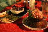 Coconuts_Beach_Club_020_11102019 - The escargot and oka dish served up at the Coconuts Beach Club
