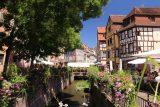 Colmar_053_06202018 - Looking along one of the small canals near the Place de la Douane in Colmar