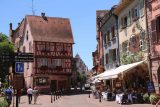 Colmar_058_06202018 - Looking back towards more cute half-timbered homes around the Place de la Douane in Colmar