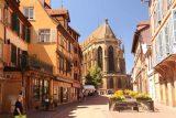 Colmar_114_06202018 - Looking back towards the St Martin Church in Colmar