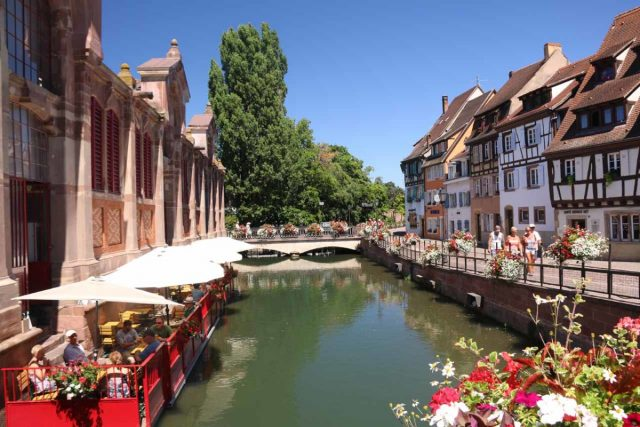 Colmar_132_06202018 - About another hour's drive to the west of Freiburg was the charming town of Colmar, France, which featured a Little Venice as well as many German-influenced half-timbered historical buildings throughout its old town