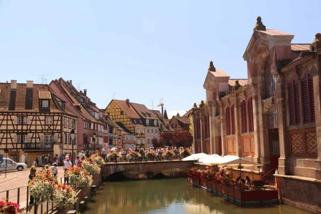 Colmar_152_06202018 - About another hour's drive to the west of Freiburg was the charming town of Colmar, France, which featured a Little Venice as well as many German-influenced half-timbered historical buildings throughout its old town